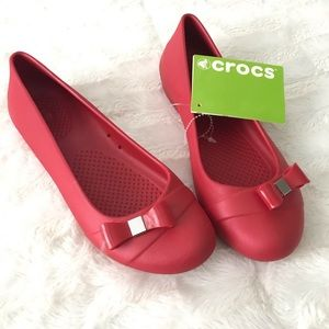 CROCS Shoes - Crocs Gianna Bow Flats - Pepper
